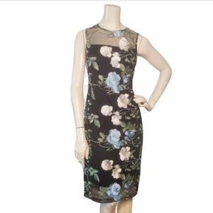 Calvin Klein Women's Illusion Floral Sheath Dress